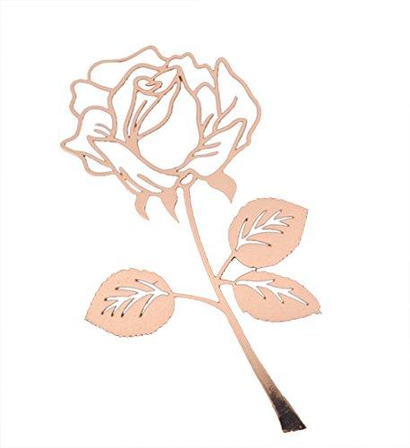 creativo metallo in acciaio inox rosa, fiore segnalibro libro studente carta di cancelleria per i regali di natale