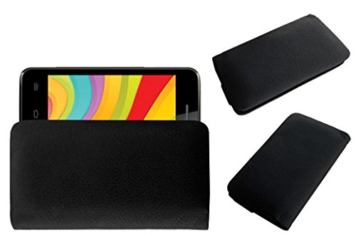 Acm Rich Leather Soft Case For Videocon Infinium Z40 Pro Mobile Handpouch Cover Carry Black  available at amazon for Rs.179
