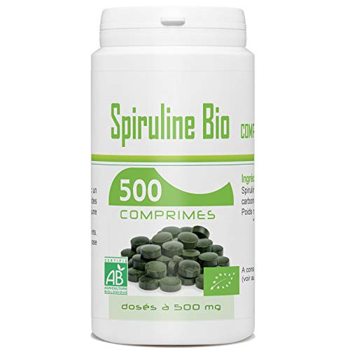 Spiruline Bio AB 500 MG - 500 comprimés -...