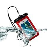 Unterwasser-Handy-Packsack Fall Telefon wasserdichte Tasche - Rot