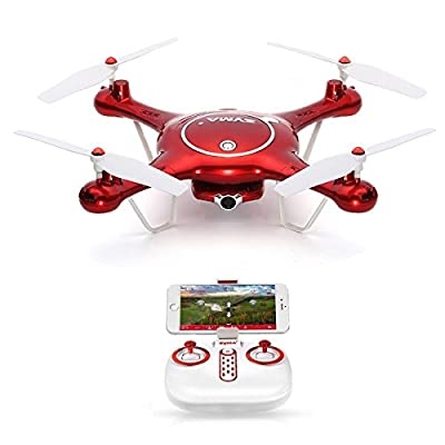 Syma X5UW Wifi FPV Drone with 720P HD Camera Drone Quadcopter with Flight Plan Route Control & Altitude Hold Function from Syma