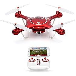 GoolRC SYMA X5UW Drone con Cámara HD 720P Wifi FPV RTF Quadcopter con Modo sin Cabeza Mantenimiento de Altura
