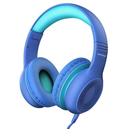 Kinder Kopfhörer, Mpow Kopfhörer für Kinder mit 85dB Lautstärkeregler Schalter, Over-Ear Ohrenschützer, Faltbar, Lebensmittelqualität Material, Mikrofon für Smartphone, Tablet, Laptop, Computer, mp3/4