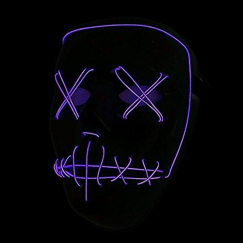 Bolange maschera parodia confortevole modalità remota illuminazione colore-> viola