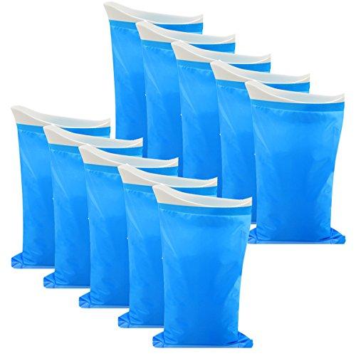 Monkey Home Urin-Beutel, 10Stück, Camping, Wandern.-Tasche, für Outdoor, Reise, Notfall-WC für Traffic Jam (Auto, Tasche für Herren, Damen, Kinder, 0768, blau