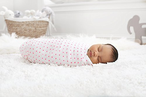 aden + anais 4029G Classic Swaddle, 2er pack, fluro pink