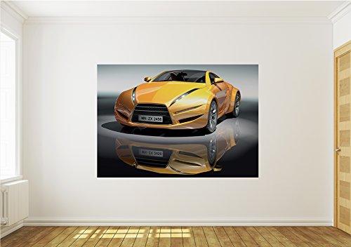 Vlies Fototapete Tapete Wandbild S M L XL XXL und 3XL Auto Rennwagen 143VE