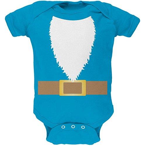 Kostüm Halloween Rasen Gnome-weiches Baby ein Stück Türkis 3 (Halloween Baby Kostüm Gnome)