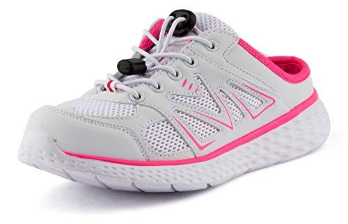 Fusskleidung Damen Herren Sabot Sneaker Sportschuhe Slip-On Clogs Pantoletten Freizeit Sandalen Weiß Pink EU 41