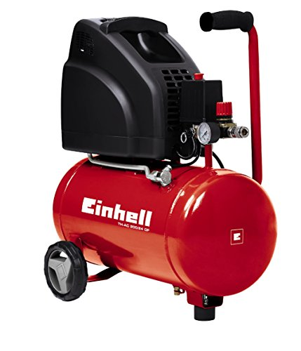 Einhell TH-AC 200/24 OF - Compresor, color rojo y negro