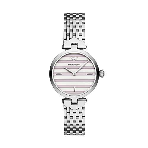 164b582a4770 Emporio Armani Reloj Analógico para Mujer de Cuarzo con Correa en Acero  Inoxidable AR11195