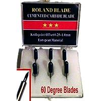 ROLAND Set de Cuchillas de 60 Grados, carburo cementado, de Tipo, Canon y Refine para Corte de Grados, 6 Unidades