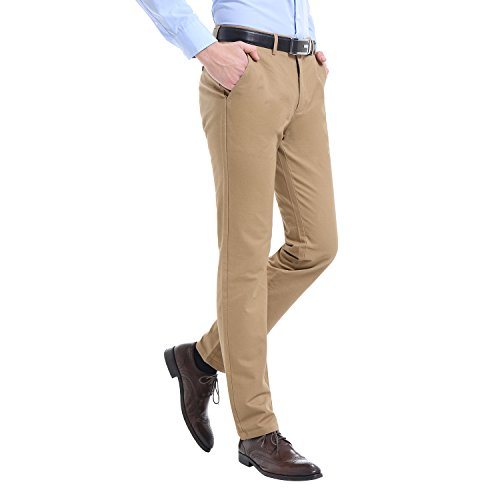 Finrosy Herren Chino Hose business hose herren Straight Leg hose Slim fit dick Casual Regular Schnitt Chinohose Beige (dick)