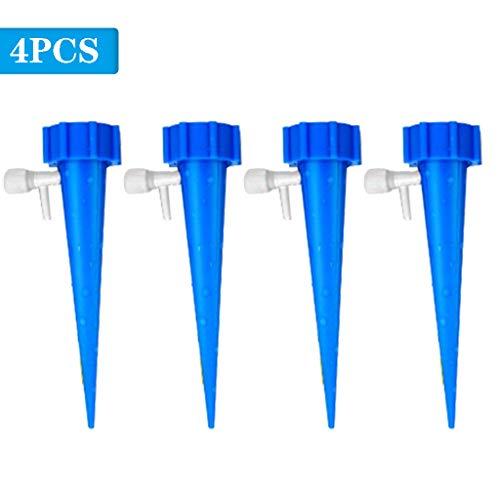 Blau Automatische Vakuum (Balock Schuhe Garten Bewässerungs Kit,DIY Bewässerungs Gewächshaus Sprinkler,Einstellbare Automatische Tropfbewässerung Bewässerungsgerät,für Landschaft, Flower Bed,Terrasse Pflanzen (Blau, 4 Stück))