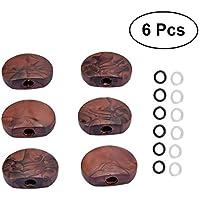 Healifty 6pcs Clavijas de Afinación de Guitarra Sintonizadores de Cerrados Cabezas de Máquina Redondas Piezas de Repuesto de Guitarra