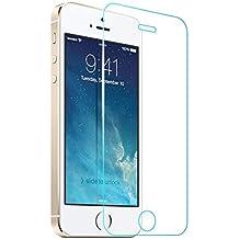 Hosaire Cristal Templado iPhone 5 5C 5S 5G, Protector Pantalla iPhone 5 5C 5S 5G, Protector Cristal Vidrio Templado para iPhone 5 5C 5S 5G, Ultra Resistente a Golpes y Rayado, Alta Transparencia, Sin burbujas (liquidar inventario)