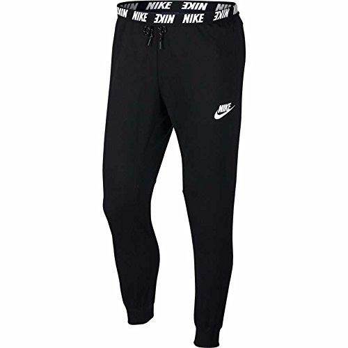 Nike Herren Sportswear Advance 15 Jogger Fleece Hose, Black/Black/White, L (Hose Nike Herren Fleece)