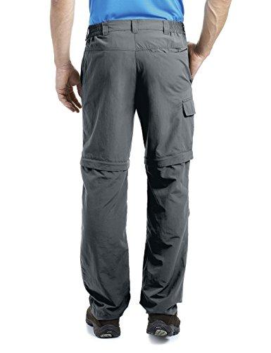 Maier Sports - Pantaloni da trekking da uomo in 100% poliammide, con zip per rimozione della gamba in corrispondenza del ginocchio, ad asciugatura rapida, disponibili in 12 taglie Grigio - grafite