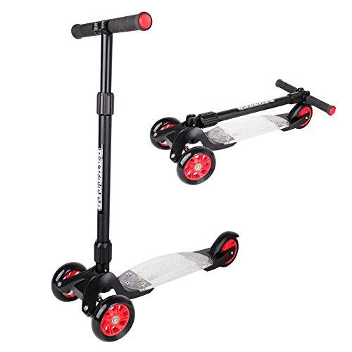 Preisvergleich Produktbild BAYTTER® Scooter Roller,  Dreirad Tretroller für Kinder ab 7 Jahren und Erwachsene,  Kinderroller aus Aluminiumlegierung,  mit PU Rädern ausgestattet,  in 3 Höhen verstellbar