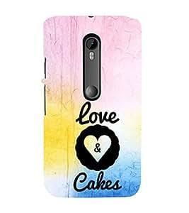 EPICCASE Love&Cakes Mobile Back Case Cover For Moto G 3rd Gen (Designer Case)