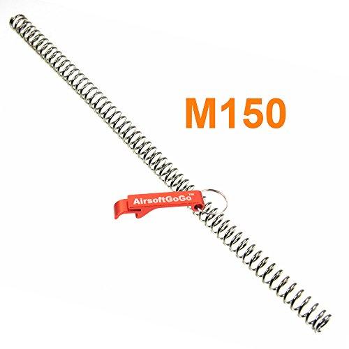 Army Force M150 Feder für Marui/WELL L96 Softair Bolt Action - AirsoftGoGo Schlüsselanhänger Inklusive