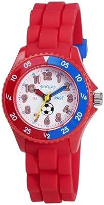 Tikkers TK0040 - Reloj analógico de cuarzo para niño con correa de caucho, color rojo