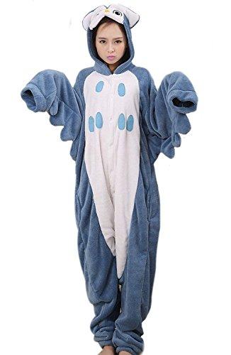 LATH.PIN Rosa Einhorn Pyjama Tieroutfit Tierkostüme Schlafanzug Tier Onesize Sleepsuit mit Kapuze Erwachsene Unisex Fleece-Overall Kostüm (L, (Für Kostüme Eule Frauen)