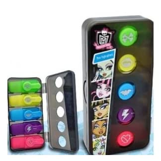 Estuche de Resaltadores de Monster High