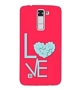 FUSON Love Text Heart 3D Hard Polycarbonate Designer Back Case Cover for LG K10 :: LG K10 Dual SIM :: LG K10 K420N K430DS K430DSF K430DSY