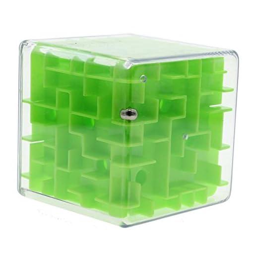 GGG-Labyrinth-3D-magischer-Wrfel-Roll-Spielzeug-Puzzle-Spiel-fr-Kinder-Erwachsene-Grn