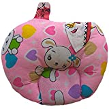 Dhawariya's Presents New Born Baby Cotton Soft Fabric Musterd Seeds Rai Pillow For Baby Head Shaping Apple U Shape Takiya Detachable Mustard / Rai Seed Pouch For Easy Washing Feeding & Nursing Baby Neck Pillow (Pink)