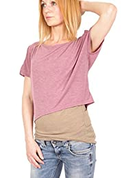 Ella Manue Frauen lockeres Lagenshirt T-Shirt Emily