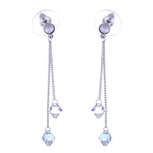 """Boucles d'oreilles """"Galaxy Jewellery"""" avec Swarovski Aurora Borealis Cristaux - Cadeau idéal pour les femmes et les filles - Livré en boîte cadeau"""