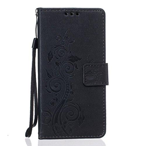 Custodia iPhone 5/5s/SE, JGNTJLS [2016 nuovo stile per lautunno] [con protezione per schermo in vetro temperato e panno di pulizia gratis] semplice, elegante, modello groffato (Pure Candy-colorato, d Vine,Butterfly,Black