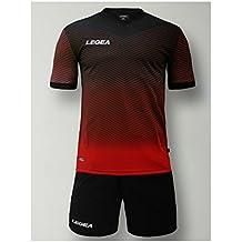 395d52c943dafa LEGEA Kit Bilbao Calcio Calcetto Completino Completo Maglietta E  Pantaloncino Sport TORNEO (S, Nero