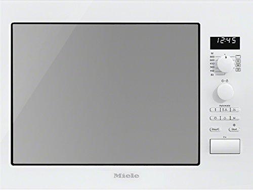 Miele M6022SC D Mikrowelle / 800 Watt / 17 Liter / Edelstahlgarraum / LED-Beleuchtung / brillant weiß