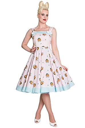 Hell Bunny Kleid FOXY 50'S DRESS Rosa 4XL