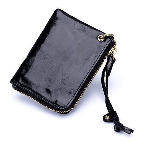 Di Moda Leggero Resistente Portafoglio Portatile Signora Sacchetto Donne,Red-OneSize Black