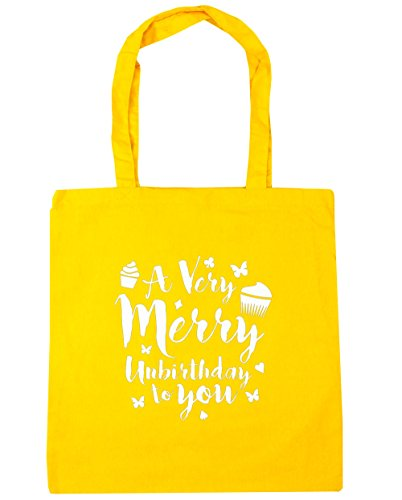 hippowarehouse-a-very-merry-unbirthday-to-you-tote-shopping-gym-beach-bag-42cm-x38cm-10-litres
