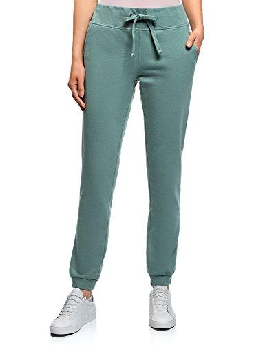 oodji Ultra Mujer Pantalones de Punto Deportivos, Verde, ES 36 / XS