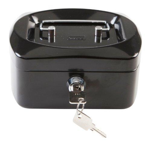 Idena 337176 - Geldkassette, 8 Fächer, aus Metall, Sicherheitsschloss, Kunststoffeinsatz, 155 x 120 x 90 mm, 6 Zoll, farbig sortiert -