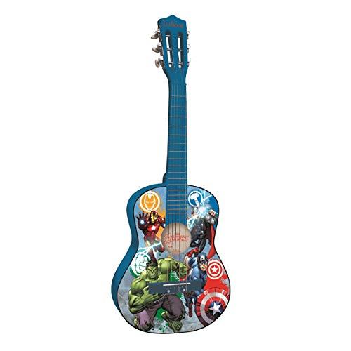 Avengers Heroes Marvel, Vengadores-Guitarra Clásica de 6 Cuerda, Color Azul (Lexibook k2000AV)