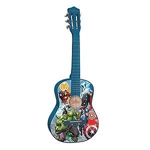 Avengers- Heroes Marvel, Vengadores - Guitarra Clásica de 6 Cuerda, Color Azul (Lexibook k2000AV)