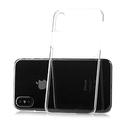 iPhone X Ultra Slim Handyhülle / Schutzhülle / Handy-Schale Case Smartphone Cover | Extrem Dünn & Leicht | Crystal Case | 100% passgenaue Hülle für Apple iPhone X von MC24