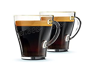 Genuine Senseo Exclusive Coffee Espresso Café Tumbler Shot Glass Cups 125mm (Pack of 2 Glasses)