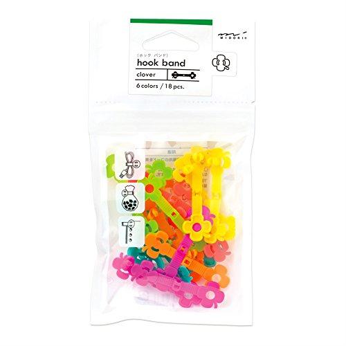Preisvergleich Produktbild Midori 43256006 Hakenband,  6 Farben,  Kleeblatt