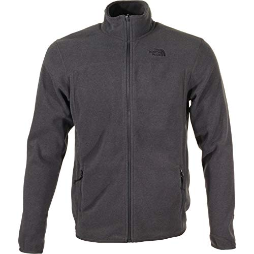 The North Face 100 Glacier Veste Homme, TNF Dark Grey Heather, FR (Taille Fabricant : XS)