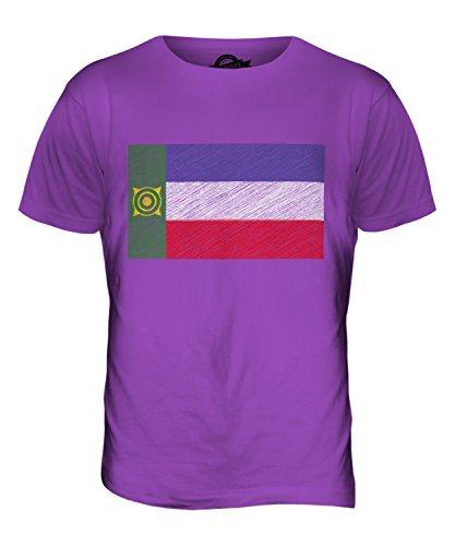 CandyMix Chakassien Kritzelte Flagge Herren T Shirt Violett