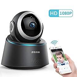 IP Kamera,FREDI WLAN 1080p Indoor Full HD Überwachungskamera WLAN Camera Videoüberwachungksamera 350°/100°Schwenkbar mit Bewegungserkennung IR Nachtsicht Zwei Wege Audio