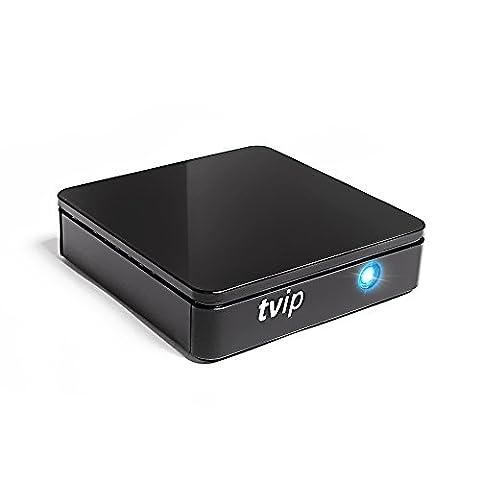tvip S Box v.415IPTV HD Android 4.4HEVC Linux Stalker IP Interne multimédia TV streamer 512Mo RAM + 4Go Flash, microSD Card, ext. IR, 2,4/5GHz WiFi